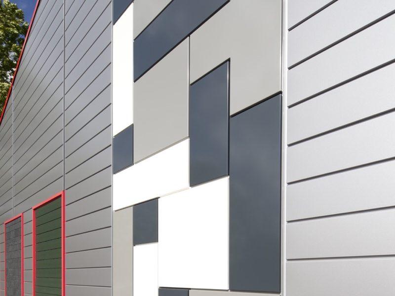Fassadenverkleidung Werkshalle